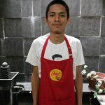 Celemek dapur merah